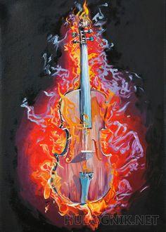 Скрипка в огне