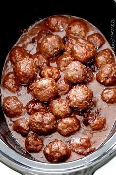 Slow Cooker Sweet and Spicy Cranberry Meatballs | Carlsbad Cravings