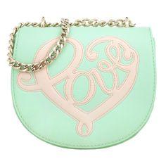nice Love Moschino Tasche - Love Crossbody Bag Chain Element Menta - in grün - Umhängetasche für Damen http://portal-deluxe.com/produkt/love-moschino-tasche-love-crossbody-bag-chain-element-menta-in-gruen-umhaengetasche-fuer-damen/  113.40