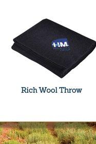 Rich Wool Throw