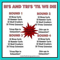 Bi's and Tri's 'til We Die Upper Body Workout
