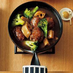 レシピ|栗原はるみオフィシャルサイト|ゆとりの空間 和風煮込みハンバーグ