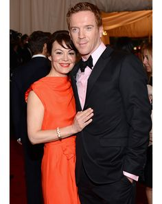 Met Gala:  Damian Lewis - Pink is a big color in the exhibit, and for the night (maybe you caught it on the ladies). Lewis gets big points from us for working it into his traditional tux. It's a subtle touch, but one that separates him from the black-and-white pack.