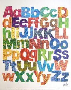 Oh so colourful alphabet