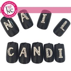 3D Nail Art Letters (1 per pack; various letters available)
