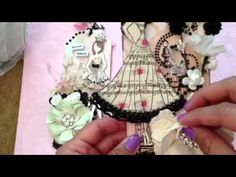 Prima doll stamp tags!! - YouTube