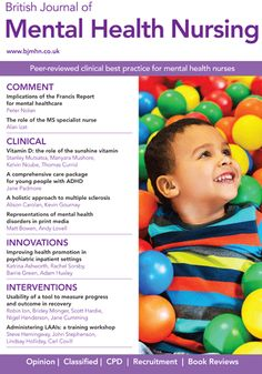 British Journal of Mental Health Nursing magazine subscription £60 one year or £14 for 3 months