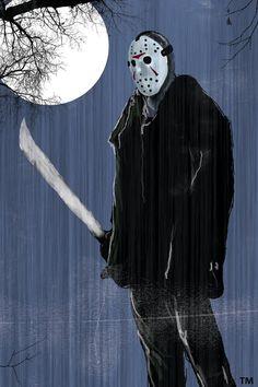Retrato de um dos vilões mais temido do universo de filmes de terror antigos. ------------------------ Portrait of one of the most feared villains of the universe of old horror movies.