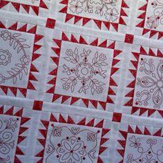Redwork quilt from Rosalie Quinlan