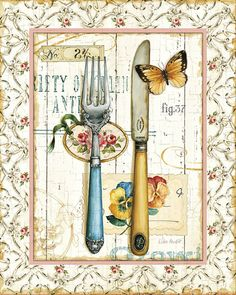 Rose Garden Utensils I Posters by Lisa Audit at AllPosters.com