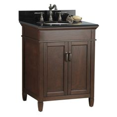 """View the Foremost FMASGABK2522 Ashburn 25"""" Vanity Package with Granite Vanity Top at Build.com."""