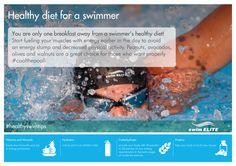 Swim your way to a healthy body. #healthyswimtips #swimming #swimelite