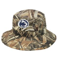 5864fc93fcc Adult Top of the World Penn State Nittany Lions Realtree Camouflage Boonie  Max Bucket Hat
