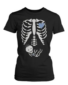 Halloween Pregnant Skeleton Prince Baby X-Ray Shirt Maternity Themed