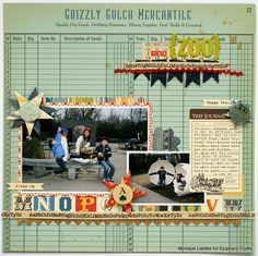 #papercraft #scrapbook #layout. the zoo