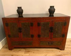 Chinese late 19th century red lacquered sideboard originating from the northeast Chinese region of Dongbei this style of this cabinet is typical of the area. Antiques Atlas Antique Chinese Furniture, Antique Sideboard, Chinese Antiques, 19th Century, Cabinet, Red, Style, Clothes Stand, Swag