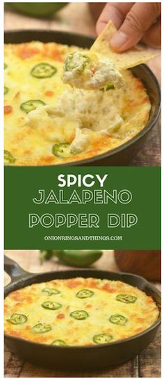 Cheesy Jalapeno Popper Dip made of cream cheese diced green chilies shredded cheese and fresh jalapenos is the ultimate party appetizer! Cheesy creamy and with just the right amount of kick this cream cheese dip is absolutely addicting! Appetizer Dips, Appetizers For Party, Appetizer Recipes, Party Dips, Parties Food, Party Snacks, Appetizer Dinner, Party Recipes, Appetizers With Cream Cheese