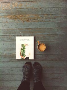 Book, coffee & warm socks. Heaven.