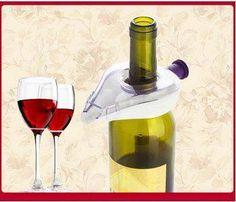 2 pcs Stainless Steel Wine Bottle Aerator Pourer Stopper Man Cave Airtight Spout