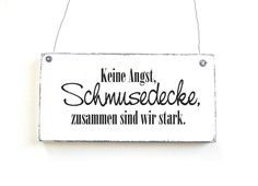 Dekoschild SCHMUSEDECKE Türschild Vintage Shabby von DÖRPKIND auf www.doerpkind.de