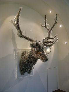 Pixcell (beads) stag head by Japanese artist Kohei Nawa http://www.kohei-nawa.net/port/beads0.html