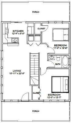 28x32 House -- #28X32H2 -- 848 sq ft - Excellent Floor Plans
