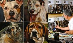 An artist is immortalizing 5,500 doomed shelter dogs by painting each of their portraits to create a giant canine memorial