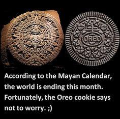 Mayan Calendar & Oreo =)  OutOfTheCrabBucket.com