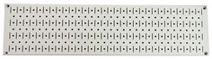 8in x 32in Horizontal Beige Metal Pegboard Tool Board Panel