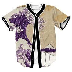 """Lean Waves"" 3D Baseball Jersey                              …"