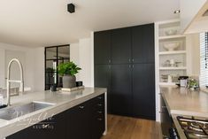 Hall Cupboard, Minimalist Design, Kitchen Decor, Kitchen Cabinets, New Homes, Contemporary, Kitchens, House, Organization