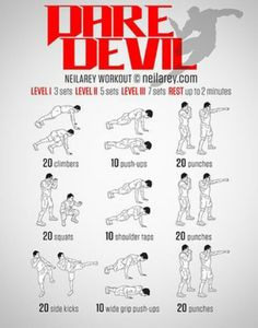 DAREBEE - Dare Devil workout
