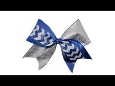 How To Make A Tick Tock Cheer Bow - YouTube