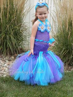 Perfect little mermaid costume for my sea-themed wedding (plus, can reuse on Halloween!). Mermaid Halloween Costume Tutu Size 2-4T http://www.etsy.com/listing/163508220/mermaid-halloween-costume-tutu-size-2-4t
