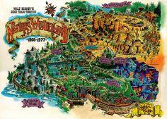 Map of Nature's Wonderland #disneyland #imagineering