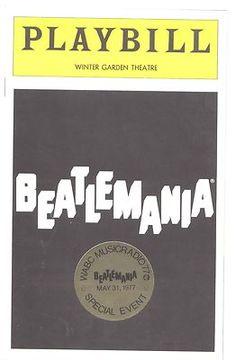 1977 Beatlemania Beatles Playbill Program Winter Garden Special Event w Sticker   eBay
