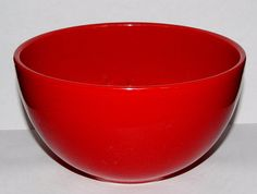 """Lot of 3, Tabletops Gallery, Unlimited, MISTO Red, Soup Bowl, Hand Painted, Hand Crafted, Dinnerware, Excellent Condition, 6"""" in diameter by libertyhallgirl on Etsy $18.00 for 3 bowls"""