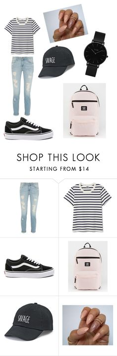 """""""First day of school🎒📚"""" by jaydin-joseph ❤ liked on Polyvore featuring Vans, adidas, SO and CLUSE"""