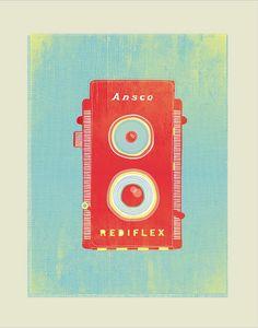 Vector Art, Vintage Camera