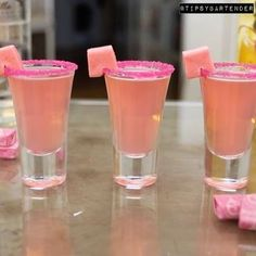 Pink Starburst Shots 1 ounce vanilla vodka 1 ounce watermelon Pucker 1 ounce … Pink Starburst Shots 1 ounce vanilla vodka 1 ounce watermelon Pucker 1 ounce sweet and Sour Shake all three ingredients together, pour and shoot. Pink Drinks, Bar Drinks, Summer Drinks, Cocktail Drinks, Pink Alcoholic Drinks, Vodka Cocktails, Beverages, Pink Mixed Drinks, Watermelon Vodka Drinks