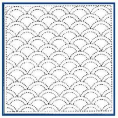 Traditional Sashiko Pattern designs  Matilda's Own Sashiko Pattern #131cm x 31cm