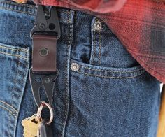 Dual Snap Key Fob by American Bench Craft Specs:Colors : Black ...