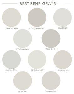 b567b56278e2485c5efab70f0fb896d5.jpg (590×750) Behr Colors, Behr Paint Colors Gray, Home Depot Paint Colors, Wall Painting Colors, Behr Exterior Paint Colors, Paint Colours, Best Bathroom Paint Colors, Farmhouse Paint Colors, Painting Tips