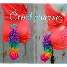 FREE Crochet Unicorn Tail Pattern on Ravelry ! #crochetverse