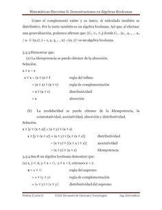 demostraciones de algebras booleanas