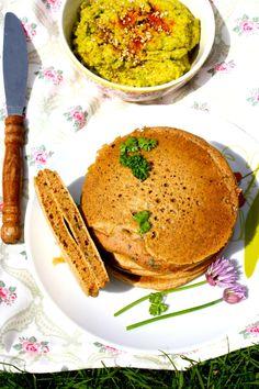 Pancakes à la crème de coco et aux herbes