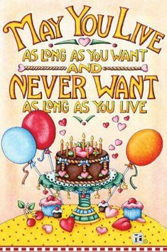 Happy Birthday wished from Mary Engelbreit Happy Birthday 1, Art Birthday, Birthday Images, Birthday Quotes, Birthday Greetings, Birthday Board, It's Your Birthday, Birthday Verses, Happy Birthday Artist