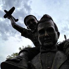 Father & son bronze sculpture, Grand Junction, Colorado Bronze Sculpture, Sculpture Art, Sculptures, Grand Junction Colorado, Outdoor Art, Exhibit, Father, Corner, Memories