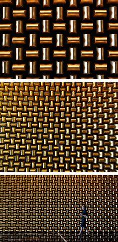 Gold Buillon Wall_Mandarin Oriental, Las Vegas, Nevada, United States