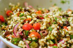 mediterranean eggplant and barley salad by smitten kitchen